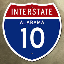 Alabama Interstate Route 10 Highway Marker Road Sign 36x36 Mobile 1957