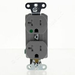 10 Pands Gray Hospital Tamper Resistant Duplex Slim Receptacle 5-20r 20a Sg63-hgry