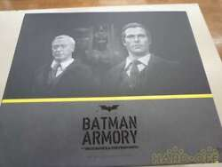 Hot Toys Movie Masterpiece 1/6 Action Figures Alfred Pennyworth Bat Suit Hangar