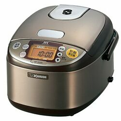 Stainless Brown Cook Extremely Zojirushi Rice Cooker 3 Go Ih-type Np-gg05-xt