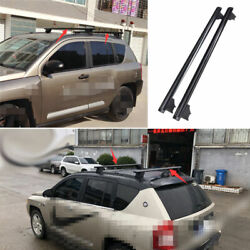 For Jeep Compass 2008-2010 Black Aluminum Car Top Roof Rack Luggage Carrier Rail