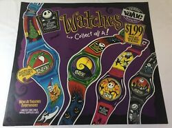 1993 Plastic Burger King Window Signnightmare Before Christmas Watches25x27.5