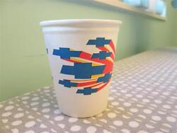 Vintage Chevrolet Paper Cups Colorful Bowtie 60's -70's Great For Car Guy Party
