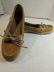Sperrys Top Sider Womens Angelfish Leather Boat Shoes Tan Size 9