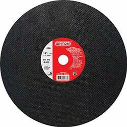 Griton Ca1478 Arbor Industrial Cut Off Wheel For Metal Used On Low Horse Powe...