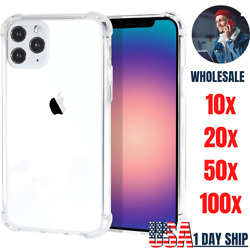 Wholesale Bulk Shockproof Clear Case For Iphone 12 11 Pro Xs Max Xr 8 7 6 Plus