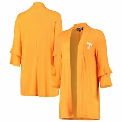 Tennessee Volunteers Womenand039s All Wrapped Up Ruffle Half Sleeve Cardigan -