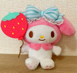 Sanrio My Melody Plush Doll Charm Strawberry Balloon Keychain With Tracking