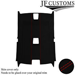 Red Stitch Luxe Suede Headliner Non Sunroof Cover For Bmw E92 Coupe 06-13 Jf2