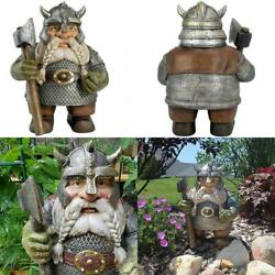 Axe Dwarf Gnome Statue, Outdoor Gnome Figurines For Indoor Outdoor Novelty Best
