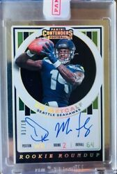 2019 Panini Contenders Dk Metcalf Rookie Roundup Auto Gold 1/10 - Sealed