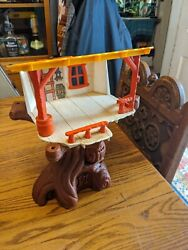 Vintage 1974 Hasbro Weeble Weebles Wobble Plastic Tree House Play Set Toy Parts