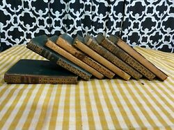 Antique Oxford India Paper Dickens Leather Book Set Of 8