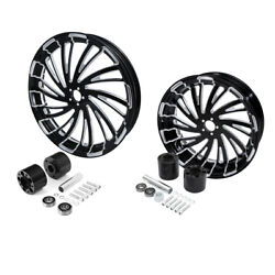 21 Front And 18'' Rear Wheel Rim W/ Disc Hub Fit For Harley Road King 08-21 2018