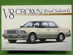 Crown 1/24 Aoshima V8 Royal Saloon Plastic Model Things At The Time Out-of-print