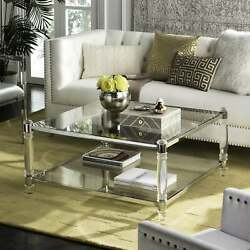 Safavieh Couture High Line Collection Isabelle Acrylic Silver/clear Transitional
