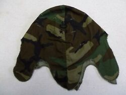 R25a-45 Us Army 1980and039s Helmet Cover Camo Master Parachute Wing 2 Star General