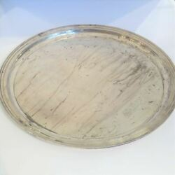 Vintage And Co. Sterling Silver Round Tray Or Serving Platter