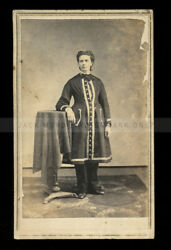 1860s Cdv Extremely Rare Photo Of Quaker Physician Anna Potts / Female Doctor