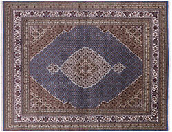 Traditional Wool And Silk Handmade Rug 7and039 10 X 10and039 0 - Q8914