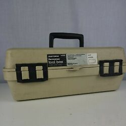 Vintagesears Craftsman Permanex Plastic Tool Box 65096 Made In Usa Missing Tray