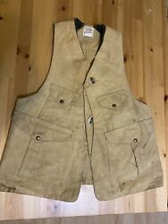 Unmatched Filson Hunting Fishing Trapping Tin Cloth Vest Med