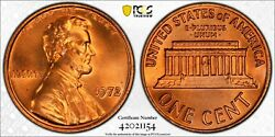 1972 Pcgs Ms67rd Lincoln Memorial Penny Double Die Obverse