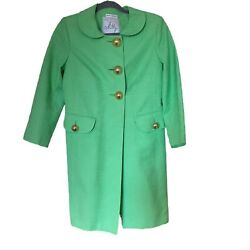 Milly Coat Bergdorf Goodman Original Of Ny Size 6 Mod Lining Large Gold Buttons