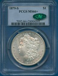 1879 S Pcgs Ms66+ Cac Morgan Silver Dollar 1 1879-s Ms-66+ Plus Cac Wow