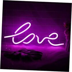 Led Neon Light Signs For Room Decor - Art Neon Signs Used For Wall Love-pink