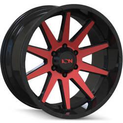 4-20x10 Black Red Wheel Alloy Ion Style 143 8x170 -19