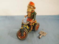 Item 1950 First Half Us Zone Germany Arnold Tin Monkey Tricycle