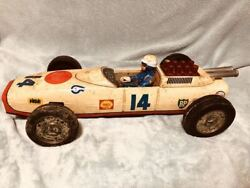 There Is Vintage Tin Car Mark Yonezawa Race Showa Toy About 41cm