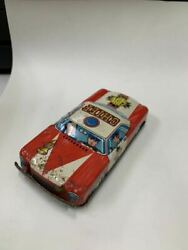 Antique Showa Made In Japan Tin Police Car Chief Fire Dept 3840