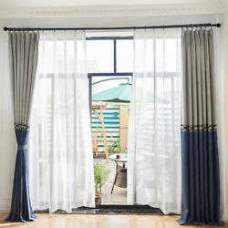 Chenille Shade Curtains Custom Living Room Bedroom Solid Color Chenille Curtains