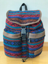 Good Condition 90s Vintage Made In Usa Eastpak East Pack Native Pattern Goblin