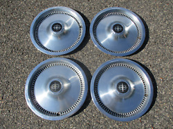 1975 To 1984 Lincoln Town Car Continental Factory 15 Inch Hubcaps Wheel Covers