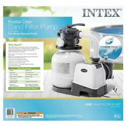 Intex 2100 Gph Sand Filter Pump For Above Ground Pools With Automatic Timer New