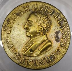 1834 G Verplanck Eagle A Faithful Friend To Our Country Campaign Token