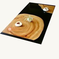 Epoxy Acacia Resin Wooden Dining Room Table Top Acacia Wood Design Gifts For Her