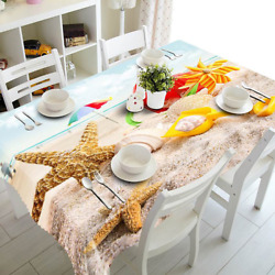 3d Tablecloth Wedding Table Cover Dustproof Cotton Table Cloth Rectangular Party