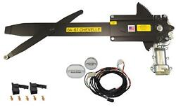 1964-1967 Chevelle 2dr Front Door Power Window Kit With Ftfg Switches For Door