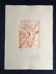 Salvador Dali Soft Watch Montre Molle Drypoint Etching Ea Artist Proof Signed