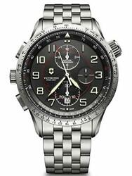 Montre Luxe Victorinox Homme Mach 9 Chronograph Black Edition Made Suisse