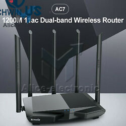 Tenda Ac7 Wireless Wifi Router 1200mbps Dual Band Coverage Wi-fi Repeater L3us
