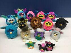 Vtg And Modern Lot 15 Furby Electronic Plush Toys Furbacca Untested For Parts