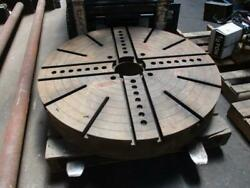 47 Diameter X 7 High Lathe Machine Face Plate Chuck With No Jaws Used