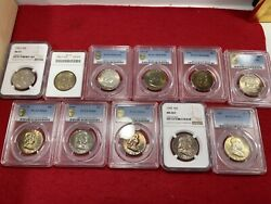 Toned Franklin Half Dollar Lot Pcgs/ Ngc / Anacs. Free Pcgs Holder Included