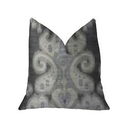 Plutus Social Butterfly Brown Shades Luxury Throw Pillow
