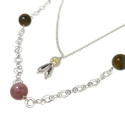 Station Long Multi Tourmaline 29.20ct In Total Necklace K18wg White Gold 13....